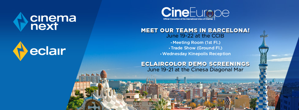 EclairColor HDR Presentations at CineEurope 2017